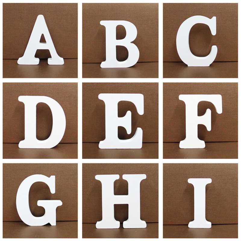 1 шт. 8 см 0-9 A-Z свободно стоящий белый деревянный цифры буквы персональное имя Слова Дизайн креативное Искусство ремесло Свадебный домашний декор