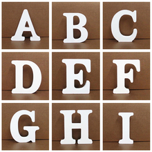 1pc 8cm A-Z 0-9 White Wooden Letters English Alphabet Number Free Standing Personalised Name Design Art Craft Wedding Home Decor