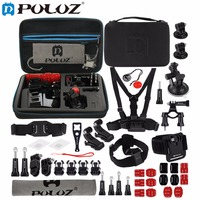 PULUZ for GoPro Accessories 45 in 1 Ultimate Combo Kit with EVA Case stocker for GoPro HERO4 Session 4 3+ 3 Chest Strap Mounts