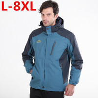 Combo plus size 8XL 7XL 6XL Polyester Winter Jackets And Coats Thick Warm Fashion Casual Handsome Young Men Parka Fit Snow Cold