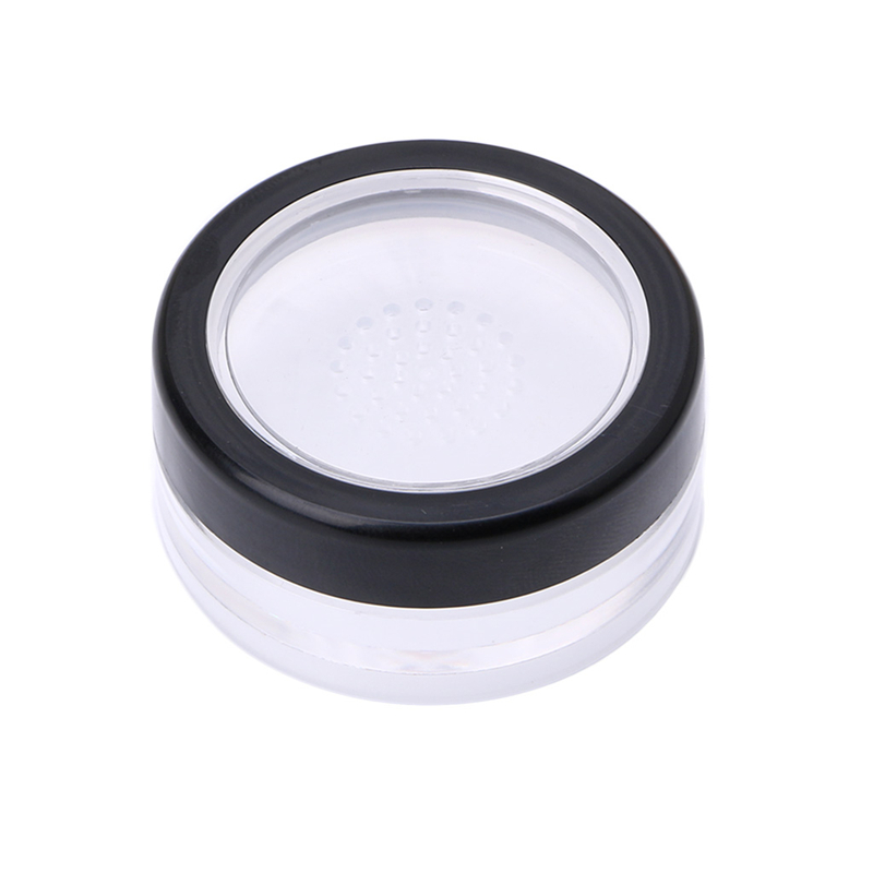 10g Plastic Loose Powder Jar Powder Puff Boxes Empty Cosmetic Container Travel New bob cosmetic makeup powder w puff mirror ivory white 02