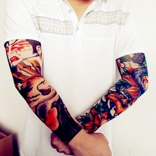 Arm Warmers Children Kids Fake Temporary Tattoo Sleeve for Men Women Stretchy Material Fancy Dress