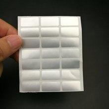 """500 יחידות גודל קטן מדבקת הדפסה מותאמת אישית אחריות הוכחת לחבל תווית החלל 20x10 מ""""מ יכול לעשות צרפתית רוסית שפה ספרדית"""