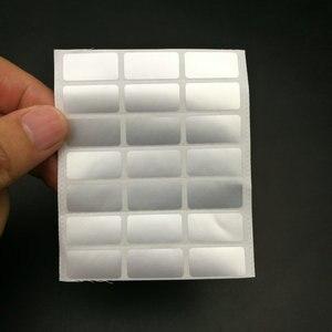 Image 1 - 500 шт., наклейки для этикеток на заказ с защитой от кражи, маленькие размеры 20x10 мм, можно использовать на французском, русском, испанском языках