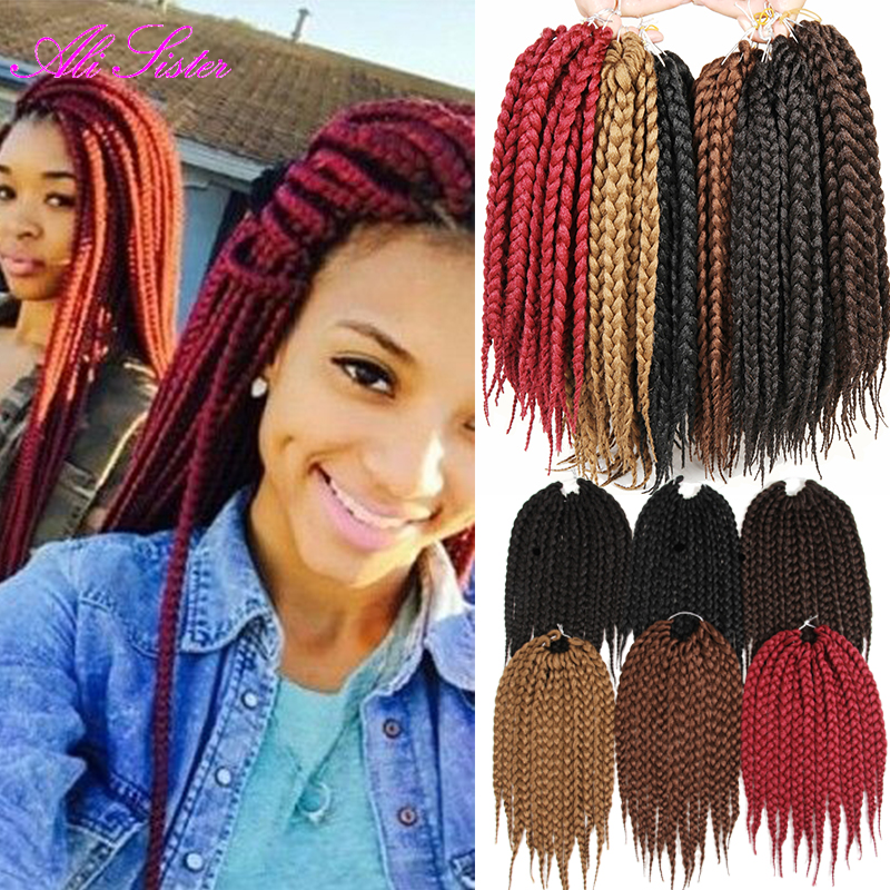 Aliexpress.com : Buy box braids hairstyle crochet hair braiding ...