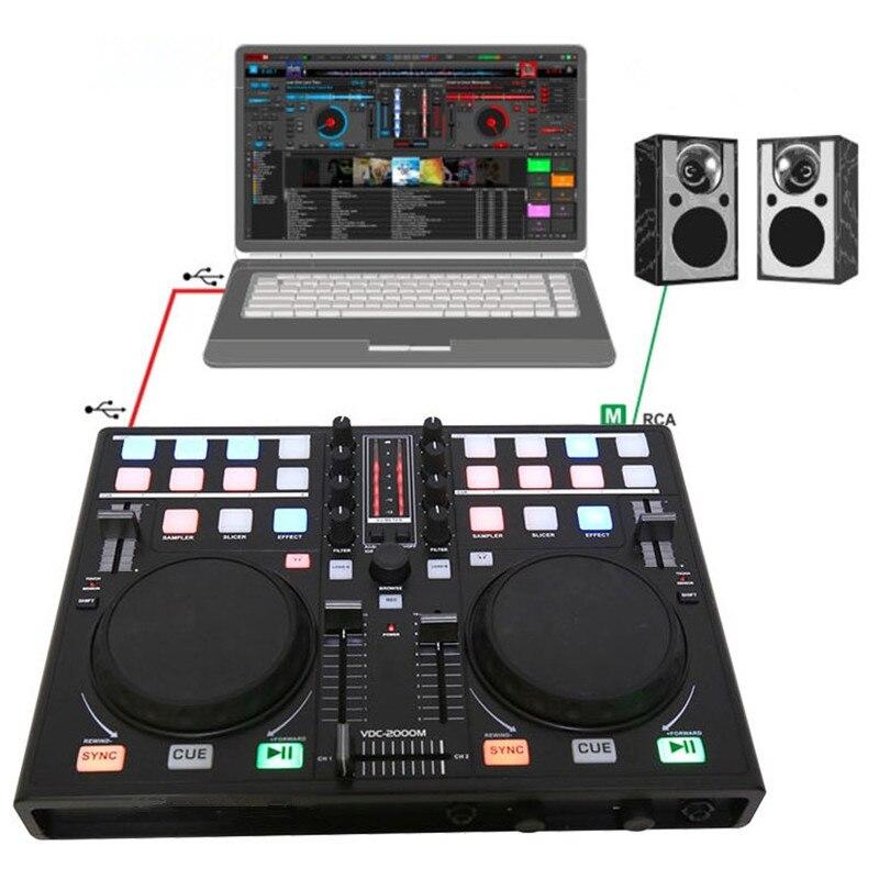 Smartphone téléphone portable DJ plat ajusteur MIDI contrôleur ordinateur multifonction intégré carte son jouant des lecteurs de réglage Audio