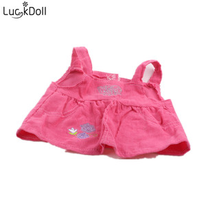 LUCKDOLL High Quality Dress Fit 18 Inch American 43cm Baby Doll Clothes Accessories,Girls Toys,Generation,Birthday Gift(China)