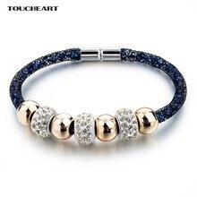 Женские браслеты с кристаллами toucheart подвеской в виде сердца