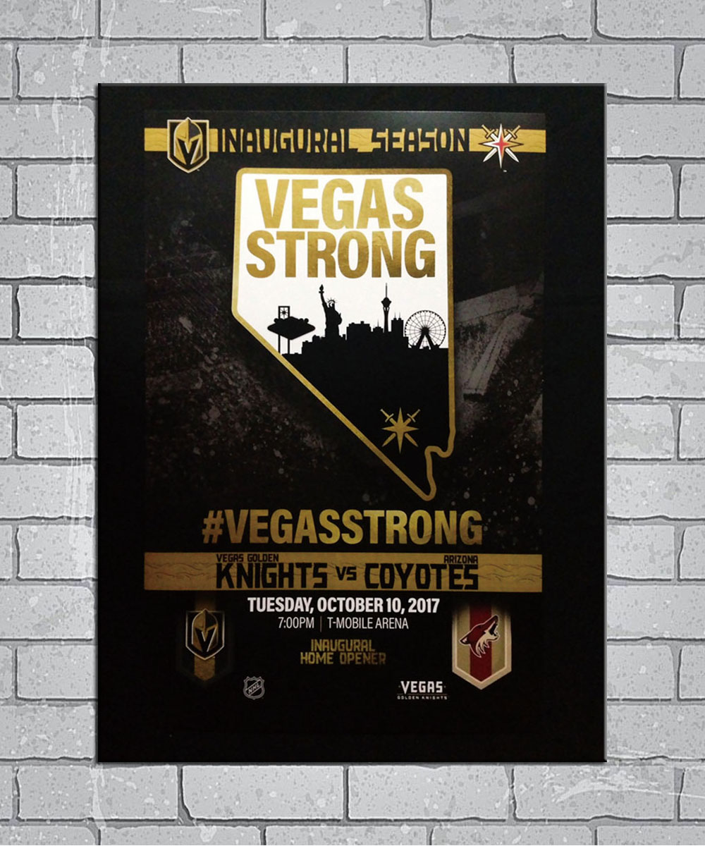 Las vegas golden knights light canvas custom poster 24x36 27x40 inch home decor n593
