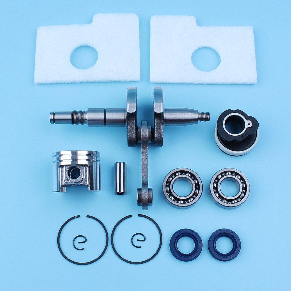 Kit de bague de Piston de roulement à billes de vilebrequin pour Stihl 018 MS180 MS170 38mm tronçonneuse 10mm doigt d'admission filtre à Air de collecteur