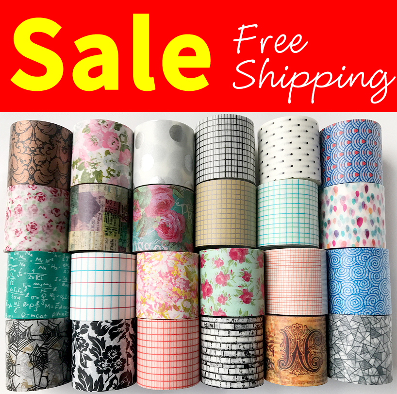 Free Shipping washi tape,Anrich washi tape 19 patterns for select in 40mm*5m, #6498-6521,can writing tape,basic design,wide tape free shipping washi tape anrich washi tape date pencil bike colorful customizable 6599 6605 6856 6863