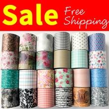 Cinta washi de envío gratis, cinta Anrich washi 19 patrones para seleccionar en 40mm * 5m, #6498-6521, cinta para escribir, diseño básico, cinta ancha