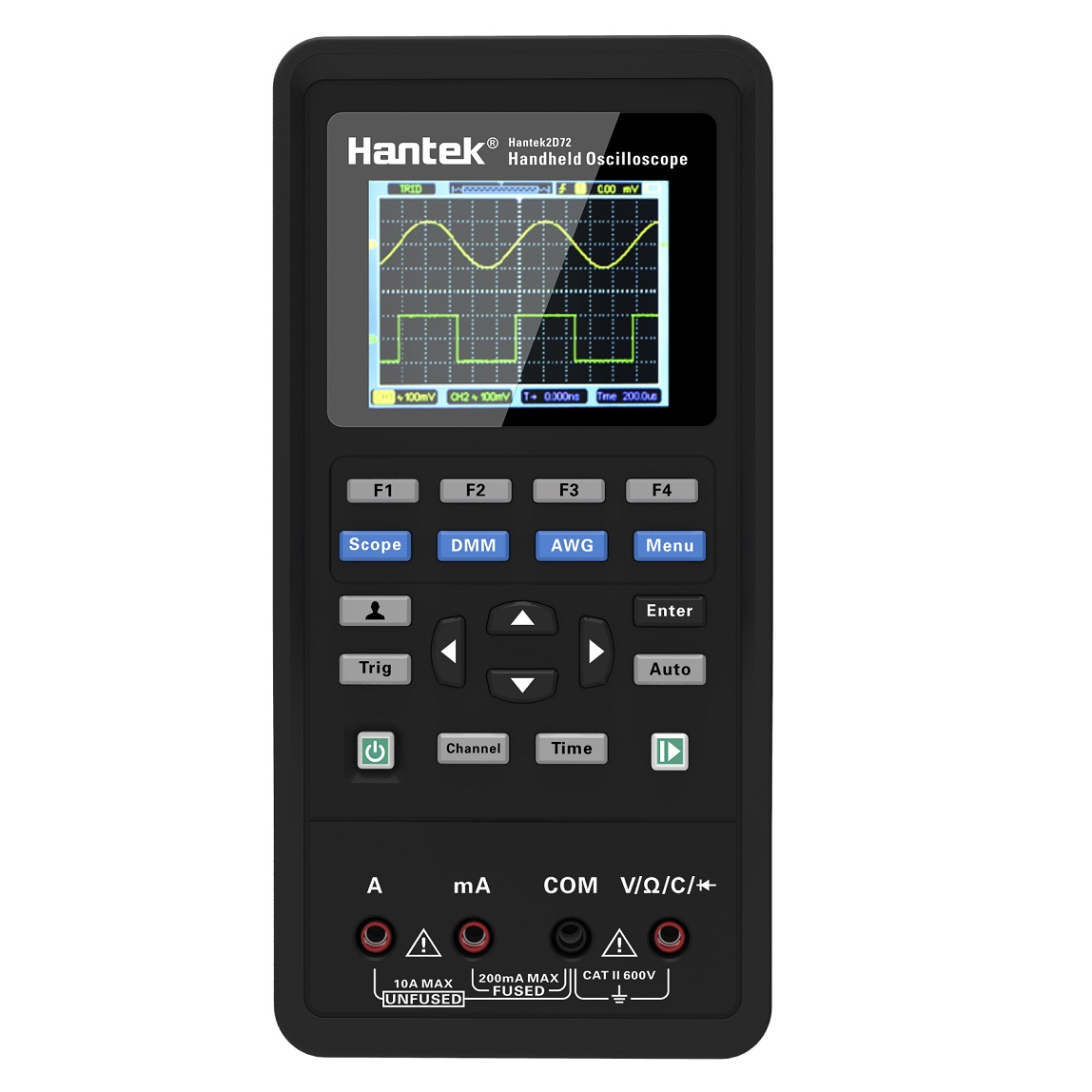 Hantek 3in1 Digital Oscilloscope Waveform Generator Multimeter Portable USB 2 Channels 40mhz 70mhz LCD Display Test
