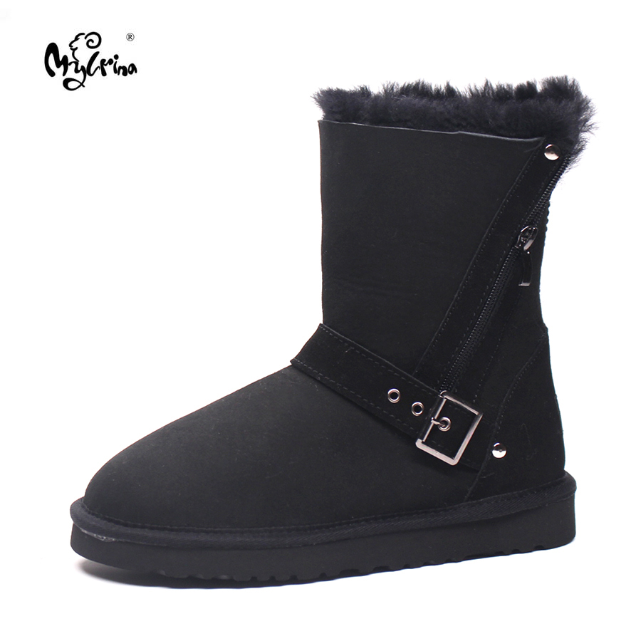 Free shipping  2017 Classic snow boots Women's warm shoes high quality brand genuine sheepskin boots  winter women boots