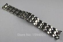 24 مللي متر T035627 T035614 جديد أجزاء الساعة الذكور سوار صلب من الفولاذ المقاوم للصدأ حزام أشرطة الساعات ل T035
