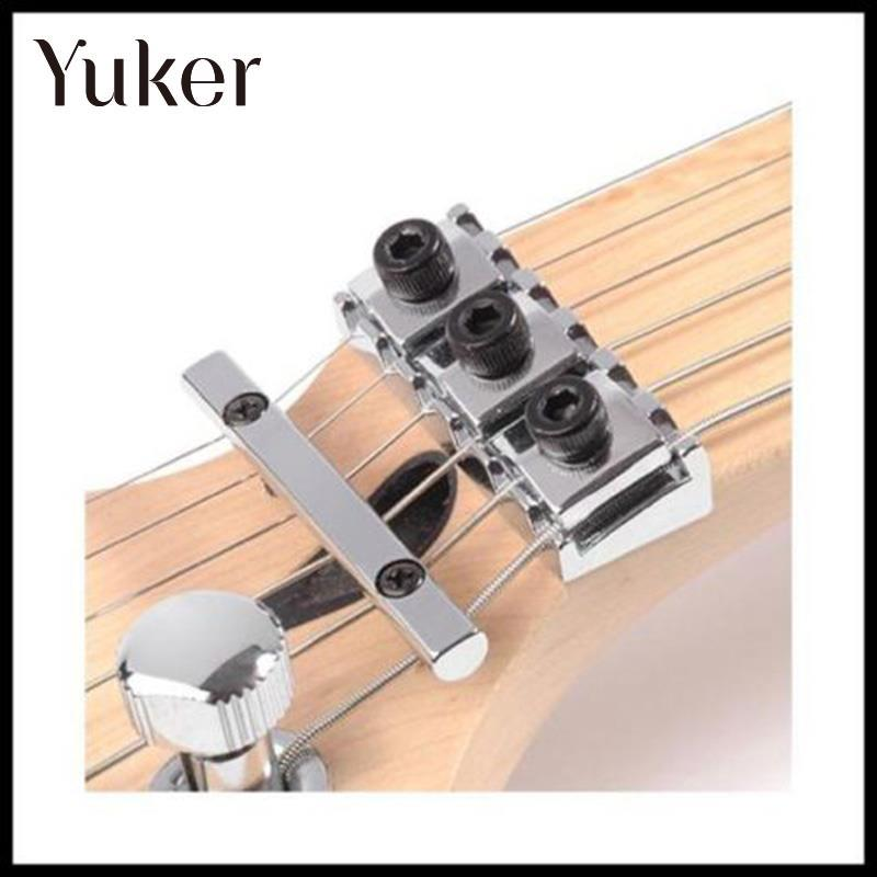 Yuker Hot Chrome 42mm String Locking Nut Wrench Screws Black For Floyd Rose Guitar Parts Replacement Portable