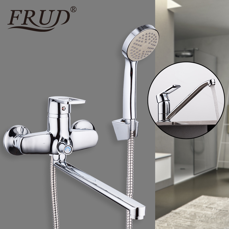 FRUD robinet de baignoire salle de bain Raibnfall mitigeur de douche robinets évier d'eau robinet avec robinet de lavabo mural