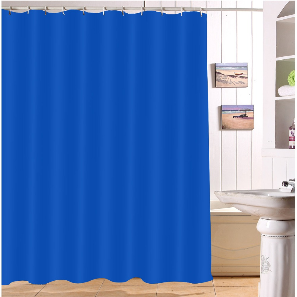 Waterproof Solid Blue Shower Curtains