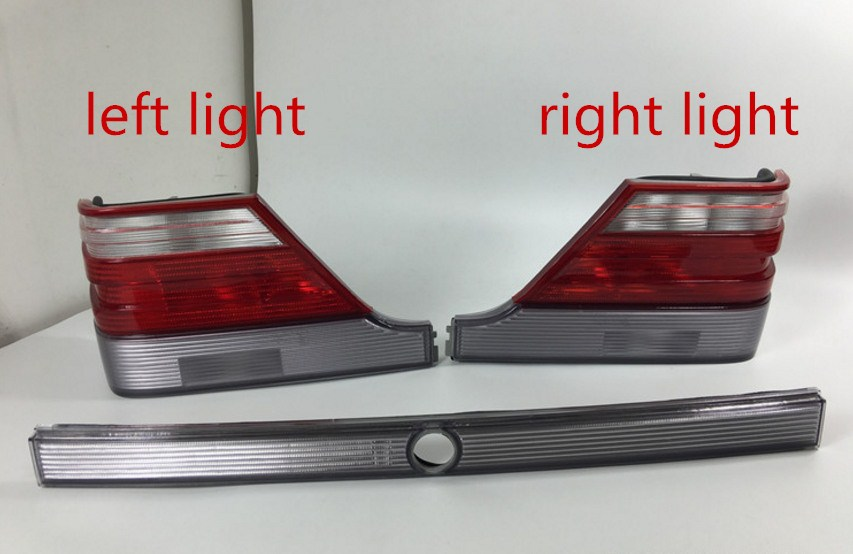Qirun LED rear light + brake light + turn signal rear bumper light reflector for Mercedes Benz S Class W140 S280 S320 S350 S500