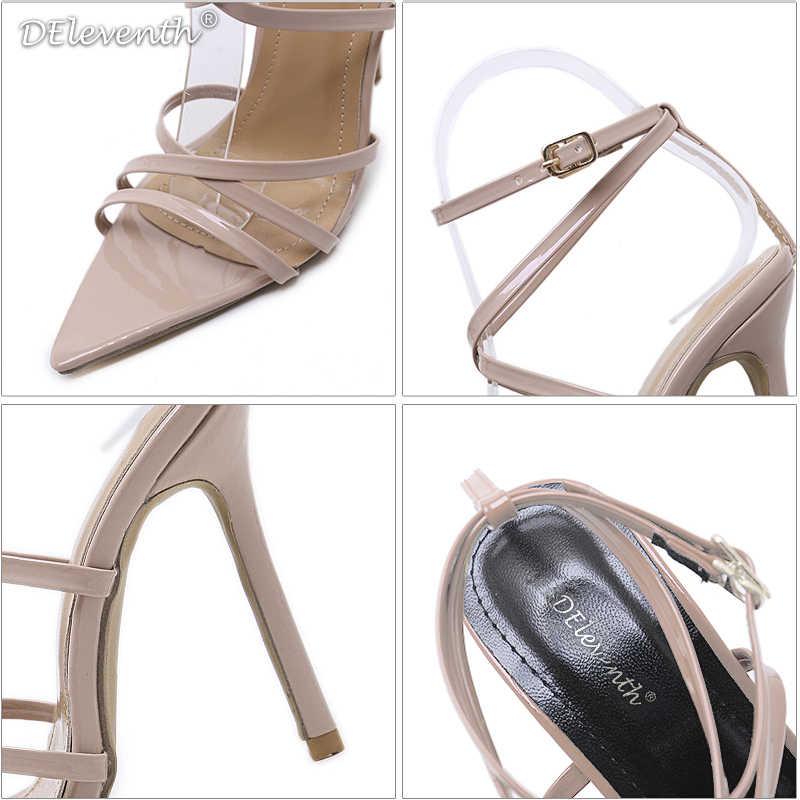DEleventh ใหม่ Designer แบรนด์แฟชั่นชี้ Toe Nichole รองเท้าส้นสูงรองเท้าแตะ Gorgeous PARTY รองเท้าแต่งงาน SIMMI INS ลิลลี่สีเหลือง