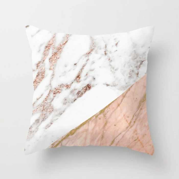 Funda de cojín ZENGIA con diseño geométrico de 45x45cm, funda de cojín con textura italiana de mármol, funda de cojín para sofá, funda de almohada decorativa para el hogar