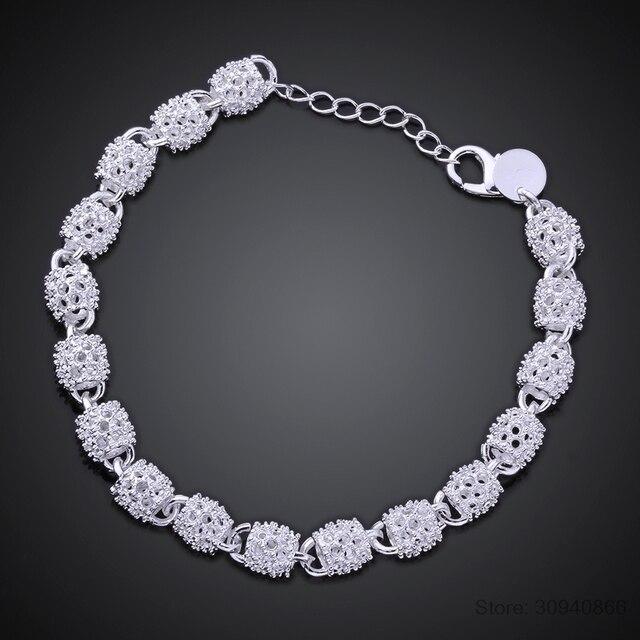LEKANI New Fashion Charm Bracelets For Women Luxury women's 925 Sterling Silver Wedding Bracelets & Bangles Fine Jewelry 4