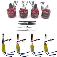 4PCS 2212 920KV Brushless Motor CW CCW 30A ESC Speed Controller 9443 CW CCW Propellers For