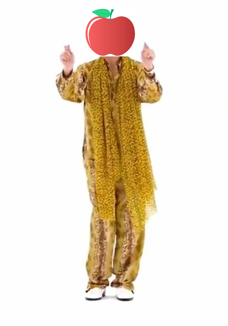 NEW HOT! PPAP Japan Piko-Taro MV Performance Costumes Coat pants Leopard Scarf Adults & Kids cosplay Full costume