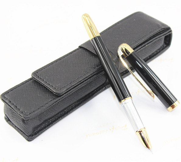 Advanced Jinhao 606 Fountain Pen Small Nib Black & Golden italic nib art fountain pen arabic calligraphy black pen line width 1 1mm to 3 0mm