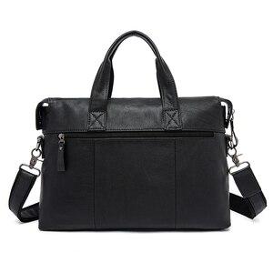 Image 3 - WESTAL Mens Briefcases Office Bag for Men Mens Bags Genuine Leather Briefcase Men Laptop Bag Leather Lawyer/Messenger Bags 910