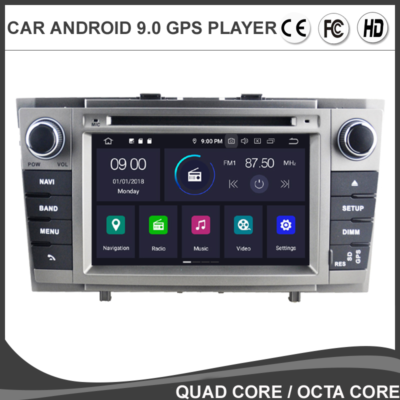 7'' <font><b>Android</b></font> 9.0 Octa Core Car DVD GPS Player For <font><b>TOYOTA</b></font> AVENSIS <font><b>T27</b></font> 2009-2015 Auto Radio NAVIGATION Headunit BT WIFI/4G Map DAB+ image