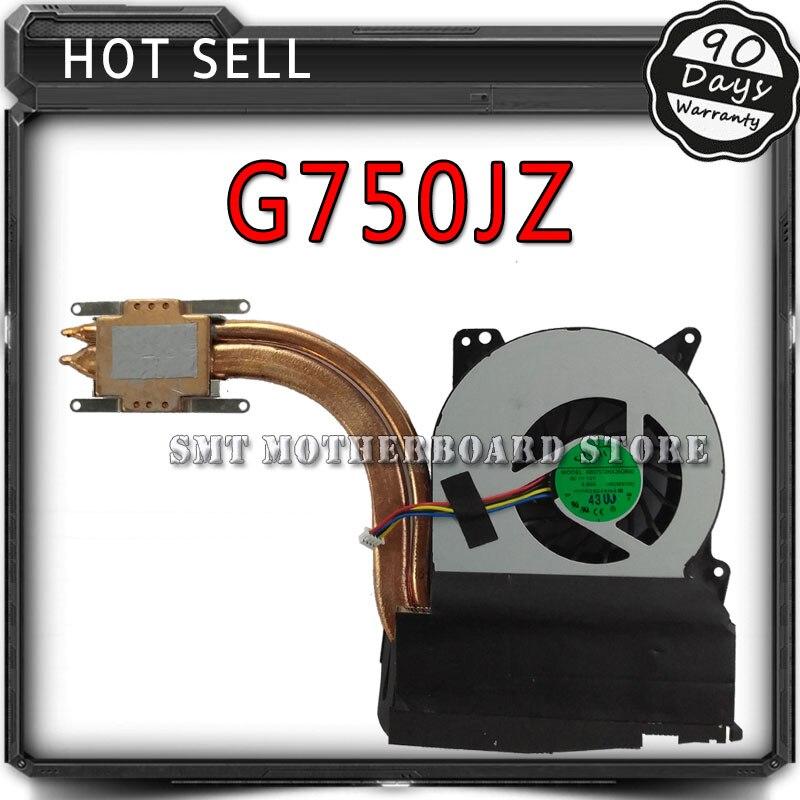 New original for ASUS G750 G750J G750JZ G750JX G750JS G750JW G750JH G750JM CPU Cooling Fan & Heatsink Assembly Radiator Cooler computer cooler radiator with heatsink heatpipe cooling fan for hd6970 hd6950 grahics card vga cooler