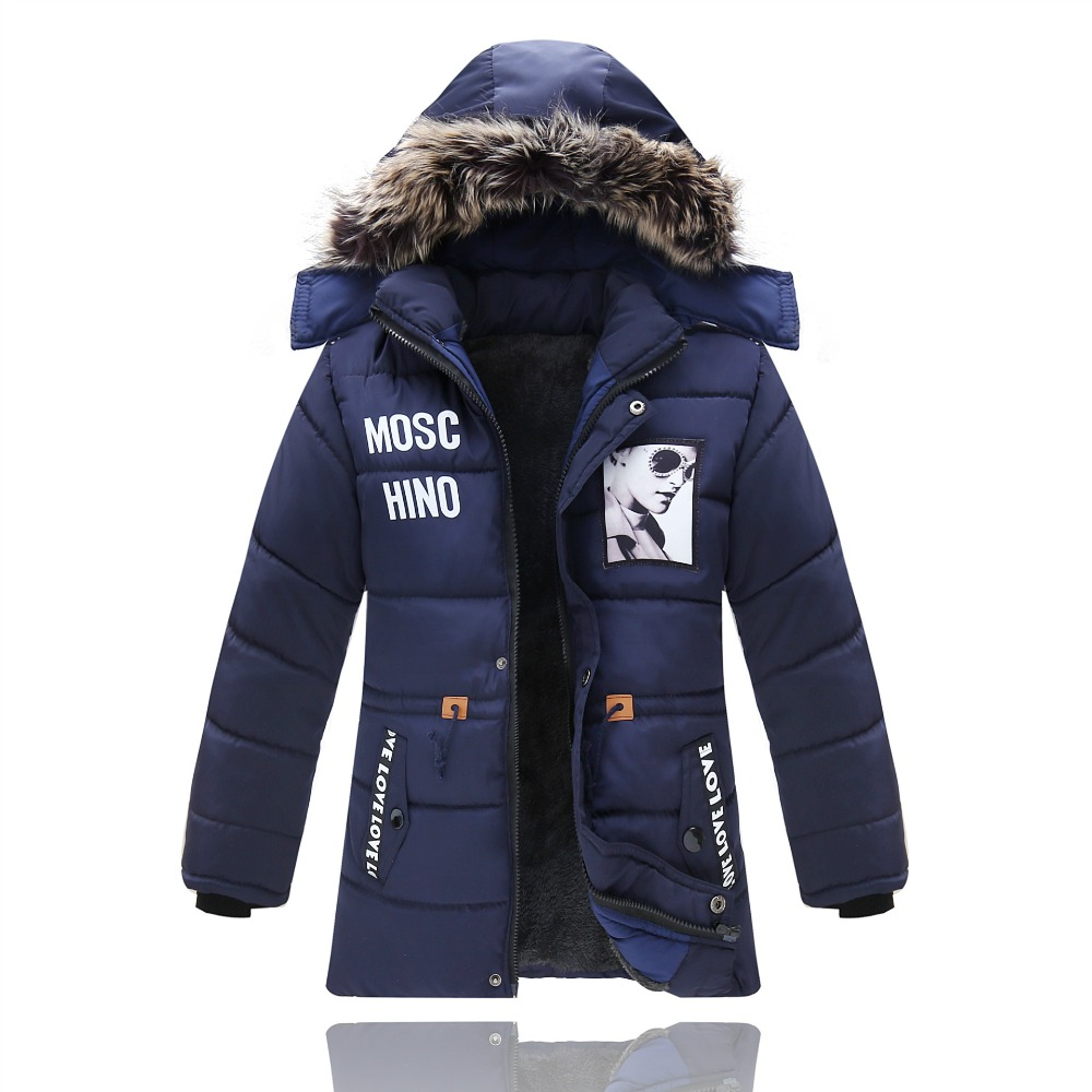 Warm Winter Coat Children Outerwear Kids Clothes Windproof Baby Boys Girls Jackets For 5-12 Years Old