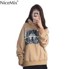 NiceMix Harajuku Hoodies Women Sweatshirt Moletom Loose Oversize Hooded Pullover Unisex Couple Coats 2017 Autumn Streetwear