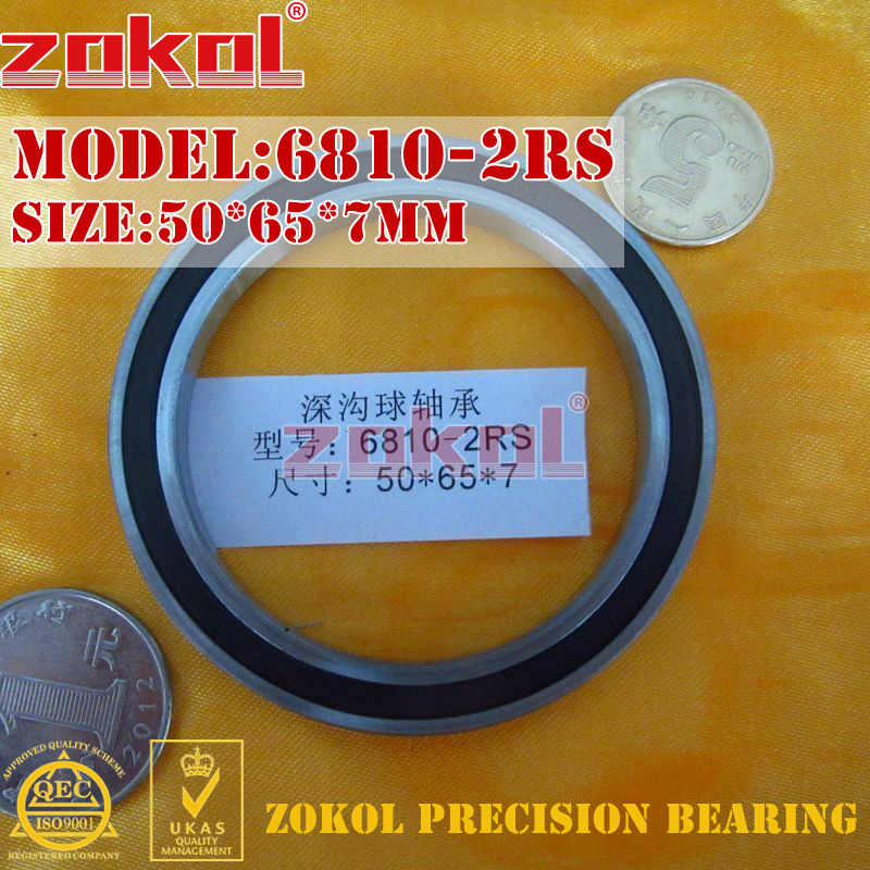 ZOKOL 6810 RS bearing 6810 2RS ZZ 6810ZZ 6810-2RS Deep Groove ball bearing 50*65*7mm