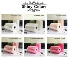 6 дюймов 15 см 100 Ярдов Shimmer Тюль Rolls for Craft Свадьба или Украшение Партии