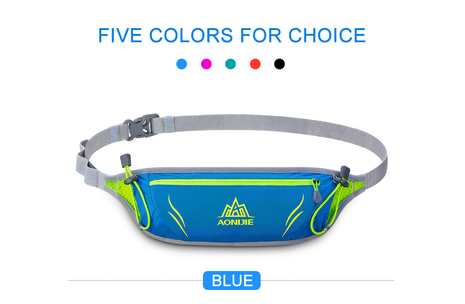 Waist Purse Cool Cat With Glasses Unisex Outdoor Sports Pouch Fitness Runners Waist Bags