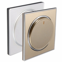 Hot Sale 1 Gang 1 Way Home Glass Panel Acrylic Material Light Button Screen Wall Socket Switch Golden White 250V 10A