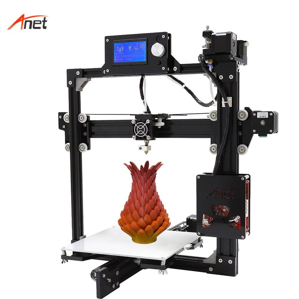 Anet a2 peso leve salvar o custo de frete 3d kit impressora única cor metal quadro 1.75mm filamento impressora 3d 0.1mm precisão
