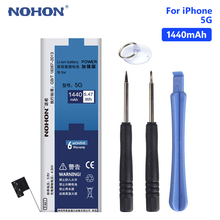 NOHON Lithium Li-ion Phone Battery For Real 3.8V 1440mAh iPhone 5 5G iPhone5 Replacement Internal Bateria Free Tools