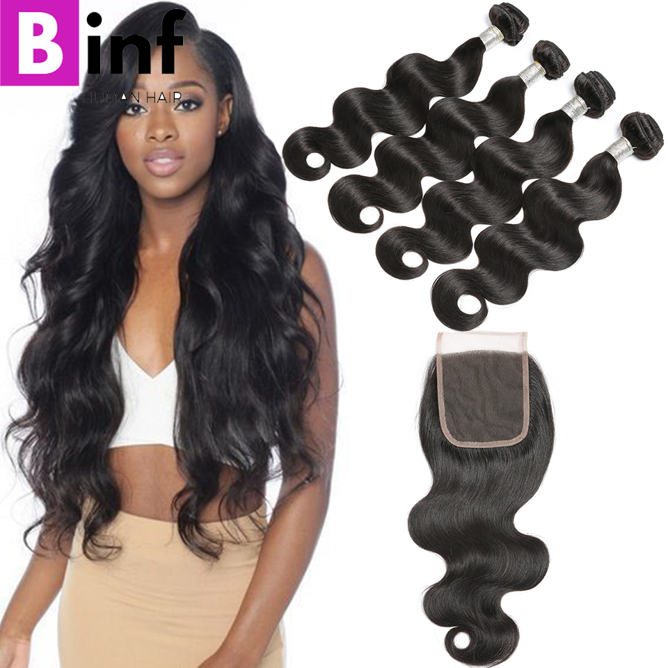 Hot Sale Binf Hair 34 Bundles Brazilian Virgin Hair Body Wave With