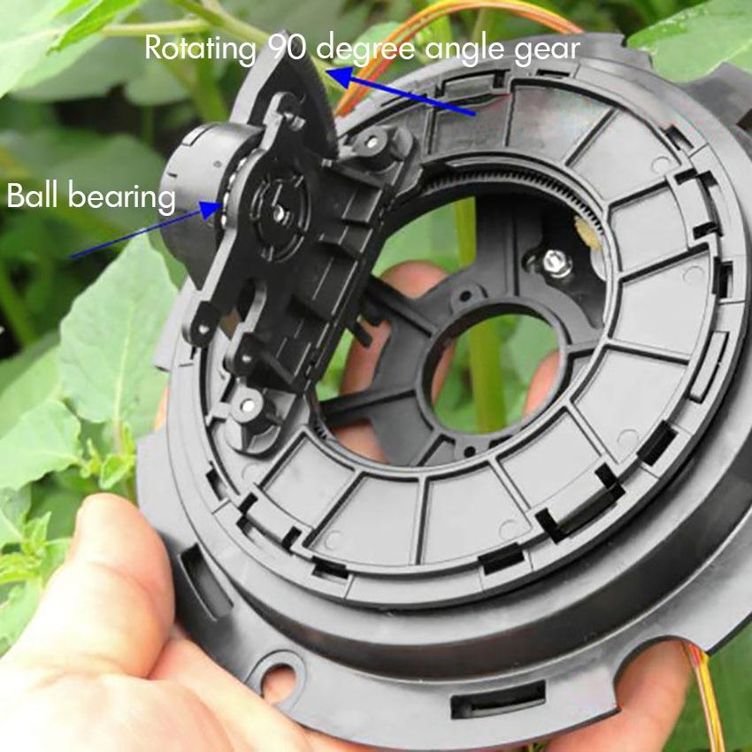 36 шаговый двигатель 0,9 градусов, двойной двигатель с высокой точностью мониторинга роторный диск и шестерни 4 провода шаговый двигатель 0.5A, 20 Ом