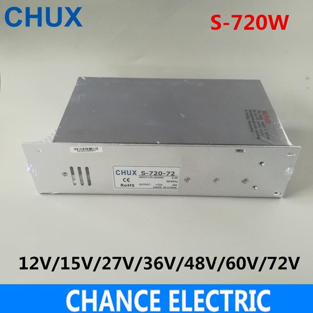 CHUX 720 W alimentation à découpage 12 V 15 v 27 v 36 v 48 v 60 v 72 v DC transformateur d'alimentation pour affichage de LED à bande lumière LED