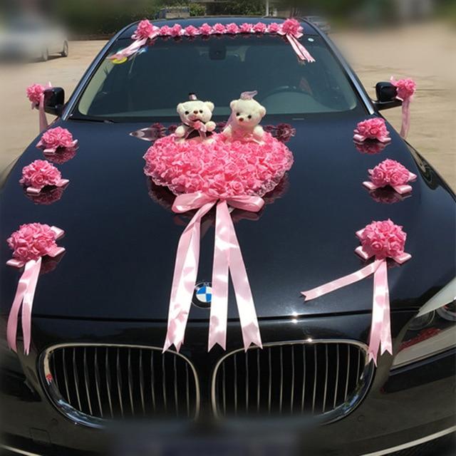 Hochzeit Auto Dekoration Künstliche Blumen Hochzeit Dekorative