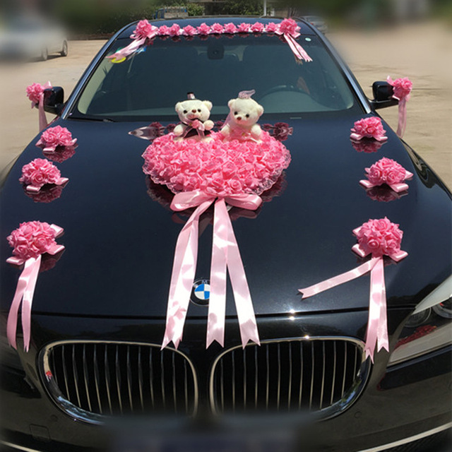 Wedding car decoration artificial flowers wedding decorative wedding car decoration artificial flowers wedding decorative flowers foam roses silk decoration wholesale junglespirit Image collections