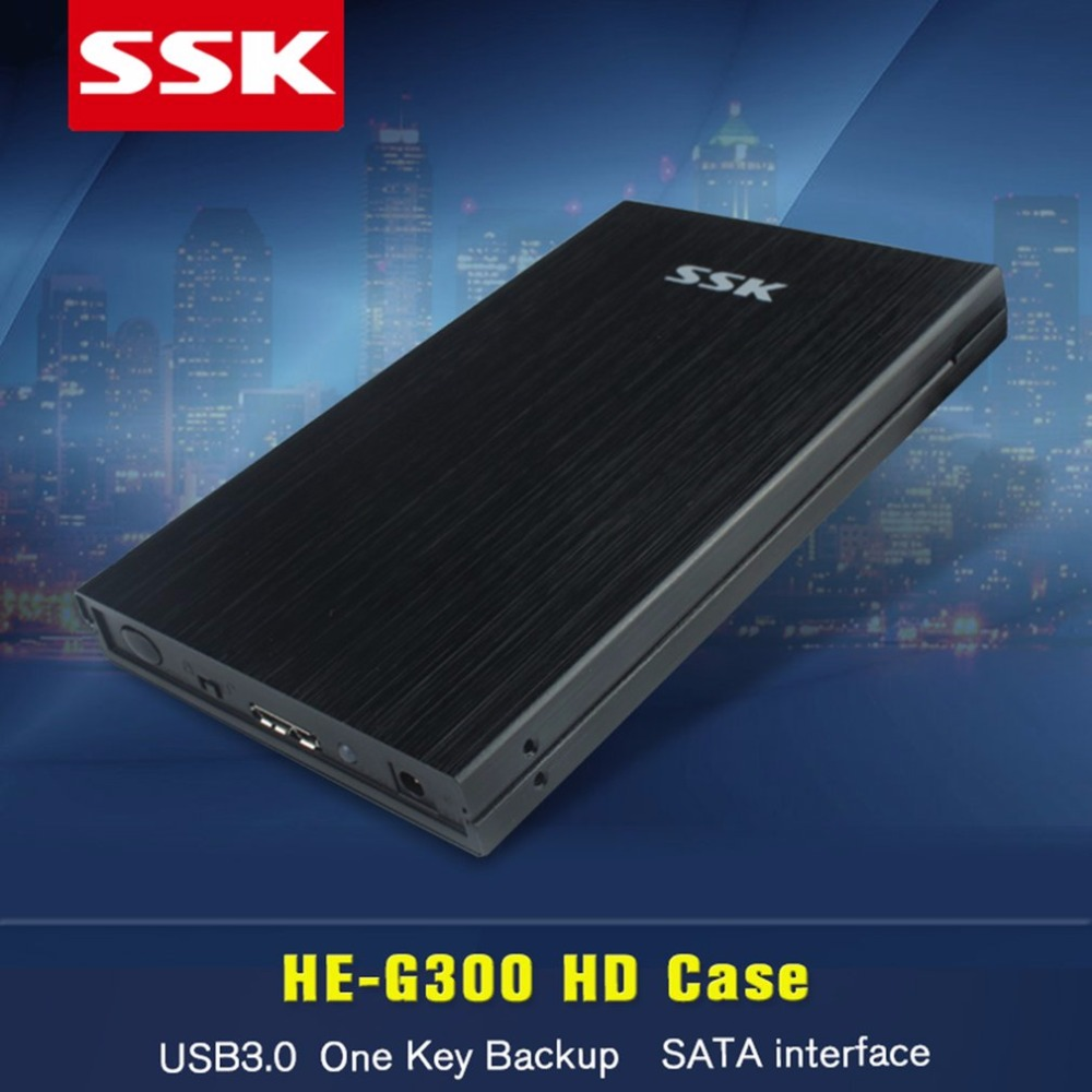 SSK HE-G300 USB 3.0 HDD Enclosure 2.5 Inch 2.5'' SATA External HDD Case Up to 5.0 Gbps 2.5 inch Hard Disk Box With OTB