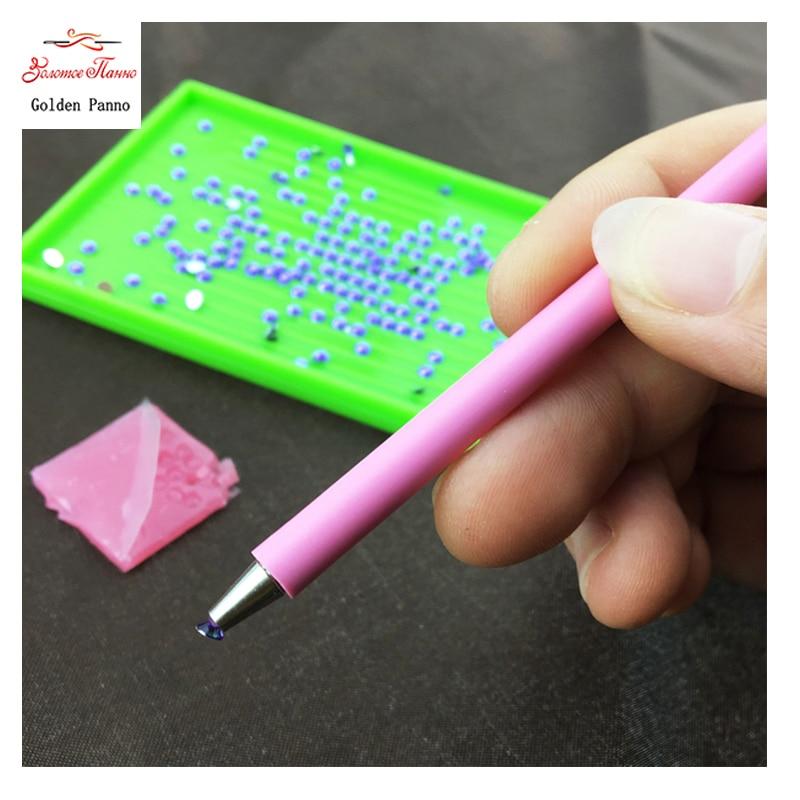 Hímzés Gyémánt mozaik szerszám DIY 5D festés Gyémánt öltés toll szögletes kerek gyémánt strasszoshoz