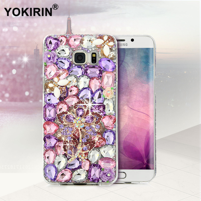 682192574 YOKIRIN Bling Crystal Diamond Case Rhinestone Cover For iPhone 5S SE 6 6S  Plus For Samsung Galaxy S7 S6 Edge Plus S5 S4 A3 A3100