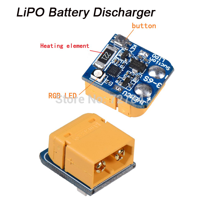 LIPO Suction Lithium Battery Discharger Battery for Storage Long-term 3S 4S 5S 6S XT60 Plug Battery RC Drone Power Protection image