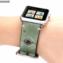 DAHASE Genuine Leather Watchband For Apple Watch 38mm 42mm 3D Eye Women Men Replacement Bracelet Strap Band for iwatch 1 2 3(China)